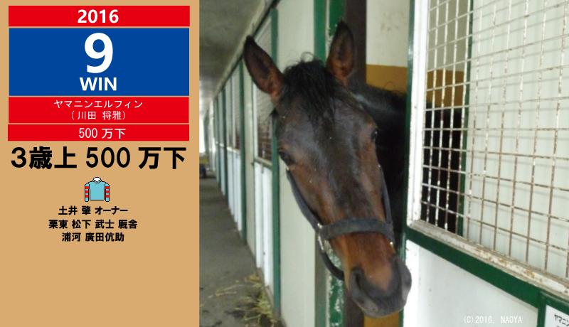 7/31 ヤマニンエルフィン デビュー3年弱での初勝利!